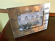"""New """" Friends"""" Pewter Table Top Photo Frame Holds 5"""" x 3.5"""" Photo"""