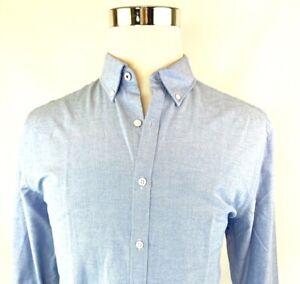 Penguin Slim Cotton Oxford Long Sleeve Button Down Dress Shirt Men 16 16.5 32/33
