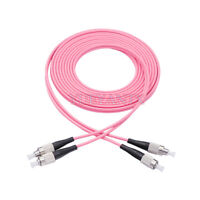 1M FC UPC to FC UPC Duplex OM4 Multimode 3.0mm Fiber Optic Patch Cord Cable