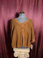 NEW Liz & Co Brown 3/4 Sleeve Sweater Womens XL NWT Closet42*