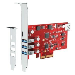 PCIe USB 3.2 Gen 2 Erweiterungskarte mit 4 USB-A und 1 USB-C Ports 20 Gbit/s