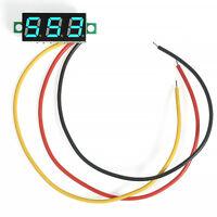 Mini BLUE LED 3-Digital Diaplay Voltage Test Voltmeter Panel Meter DC 0-100V