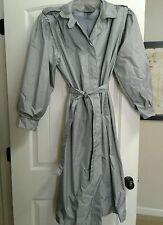 Vintage 1990's David Benjamin Silver Gray Rain Coat - Size 13/14