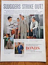 1952 Bond's Clothes Ad  Baseball New York Giant Catcher Wes Westrum