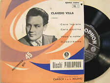 "CLAUDIO VILLA ""CORE 'NGRATO + 3""  ep 45' Italy mint"