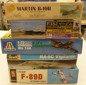 Huge Lot 1/72 Military Aircraft Old Model Kits (5)