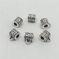 5 of 925 Sterling Silver Om Bail Bead Charms Om mani padme hum for Yoga