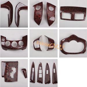 15PCS ABS Wood Grain Car Interior Kit Cover Trim Fit For Toyota RAV4 2009-2012