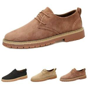 Mens Low Top Leisure Faux Leather Shoes Business Work Oxfords Lace Up Formal L