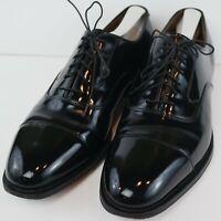 Johnston & Murphy Men's Melton Cap Toe Oxford Black MSRP $179 Size 10 D/B