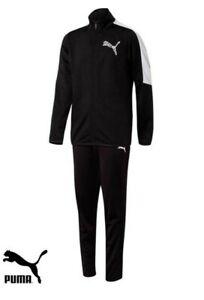 Puma Junior Boys Polyester Full Tracksuit including Pants & Top Black 580580