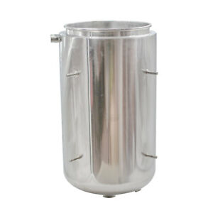 """304 Stainless Steel Base Container 12"""" diameter by 8"""" tall with Round Base"""