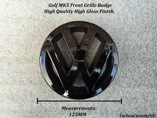 VW Golf MK5 Gloss Nero anteriore griglia Badge emblema-UK Venditore -