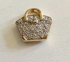 Beautiful Quality Ladies Solid 9CT Gold Diamond Set Handbag Charm or Pendant