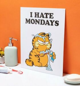 """Official Garfield I Hate Mondays 11"""" x 14"""" Art Print"""
