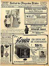 K. Puttkammer Kombi Camera & Stereoscop Alois Deiglmayr München Speiseöle v.1895