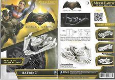 Batman V Superman Movie Batwing Metal Earth 3-D Laser Cut Steel Model Kit NEW