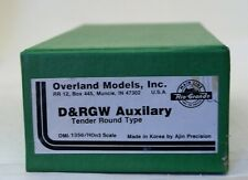 Hon3 Brass Overland Models D&RGW Auxilliary Tender