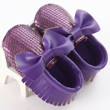 US Cute Newborn Infant Baby Girls Sequin Boot Shoes Sparkle Bow Leather Footwear