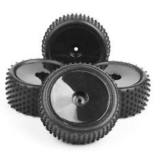 4Pcs Set RC 1:10 Off-Road Front Rear Tire Rims For HSP HPI Buggy Car 25026+27005