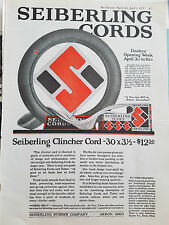 1922 Seiberling Clincher Cord Tires Tubes Dealers Opening Weeking Rubber Co Ad