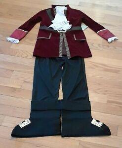 Disney Store Peter Pan Captain Hook Costume Villian Boys Size 9/10 Shirt Pants