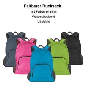 Reise Rucksack Faltbar City Tasche Handgepäck Camping Wandern Sporttasche leicht