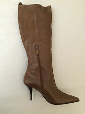 HERMES WOMENS COUTURE LEATHER BOOTS BROWN SIZE 40 BRAND NEW IN BOX