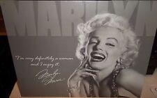 MARILYN MONROE- DEFINITELY A WOMAN-, LARGE METAL SIGN  (30 X 40cm), FILM IDOL