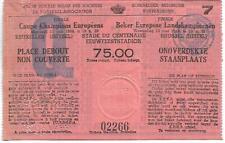 Original Ticket European Cup Final 1966 Real Madrid v FK Partizan Yugoslavia !!!