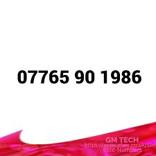 07765 90 1986 EASY MOBILE NUMBER GOLD PLATINUM VIP UK PAY AS YOU GO SIM CARD