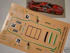 1/43 DECALS DECAL CAR FERRARI 512 BB LE MANS 1981 UNIVERSITY N.79 RED 1/43