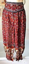 vintage Indian cotton summer weight pantaloon/ harem/ hippie trousers  free size