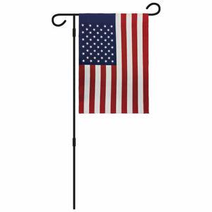 USA Flag & Pole 12x18in Novelty Yard Flag American Garden Flag