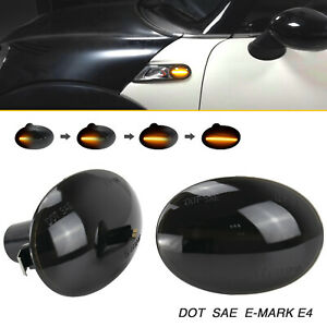 2x Turn Signal Light Dynamic Side Marker Indicator Repeater For BMW MINI Cooper