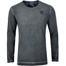 Adidas trefoil dyed camuflaje señores manga larga T-Shirt suéter batik used gris