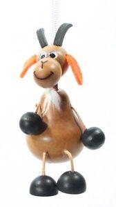 Ziegenbock braun Federtier Schwingfigur Hüpftier Mobile Federfiguren Jumper