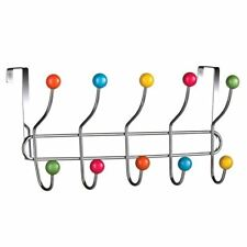 Sobre suspensión de puerta, Cromo/10 Gancho, bolas de plástico de color multi