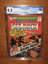 Our Army at War #162! CGC 9.2 WHITE pages VIKING PRINCE! Super packing 12 HD pix