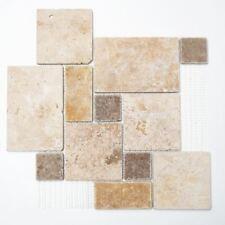 Mosaik Fliese Travertin Naturstein beige braun Mini   43-1204_f   10 Matten