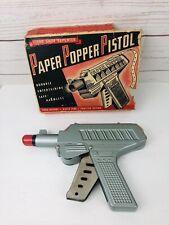 VINTAGE PAPER-POPPER DIECAST TOY GUN / CAP PISTOL With Original Box Made In USA