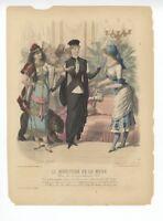 """Ladies Fashion Print - """"La Mode Illustree"""" 1881 No. 2"""