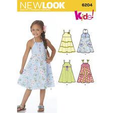 New Look Childs DRESS SUNDRESS Pattern # 6204 ~ Size 3 thru 8 ~ New in Pkg!