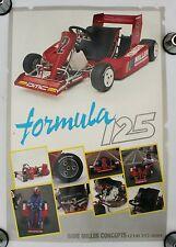 Vintage Go Kart Poster Formula 125 Racing Yamaha Gokart Karting Engine Parts