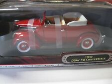 1:18 ROAD SIGNATURE 1937 FORD V8 CONVERTIBLE DIECAST RED