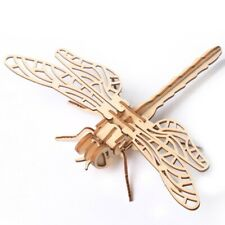 DIY 3D Dragonfly Wooden Puzzle Insect Assembling Kit Toy Kids Christmas Gift