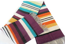 "MISSONIHOME HARPO NEW 159 THROW WOOL BLEND FRINGED BRANDED PACK 51""x 74.5"""