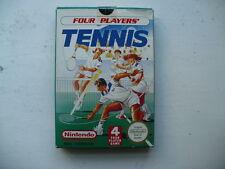Nes PAL un juego de cuatro jugadores de tenis CIB
