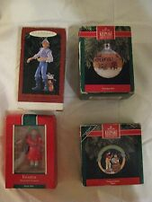 VTG Hallmark Keepsake Ornaments Lot Daughter Peace On Earth Captain John Smith