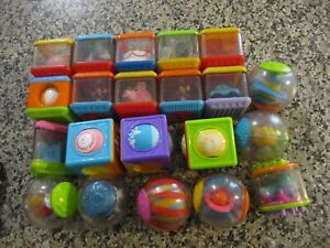 FISHER PRICE Baby Peek A Boo Toy Blocks + Rolla Rounds - 21 pieces